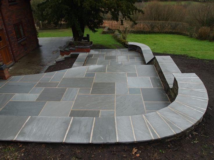 light grey premium 17 22mm sandstone the paving experts. Black Bedroom Furniture Sets. Home Design Ideas