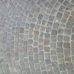 European Porphyry Cobblestone in a fan pattern