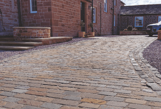 Example of block paving